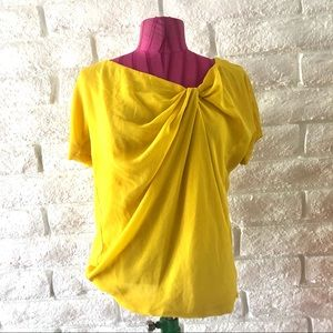 Zara Yellow Knotted Top Sz M